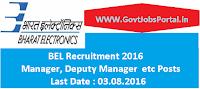 BEL Recruitment 2016