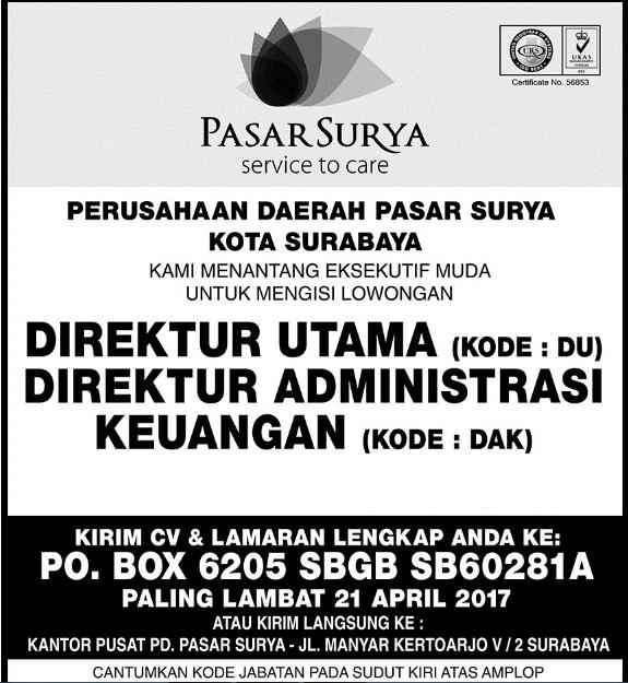 Lowongan Kerja PD Surya Surabaya