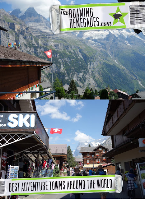 you adventure seekers out there! The ultimate list of the best adventure towns around the world! Travel, adventure, Interlaken, Switzerland, Via Ferrata, Eiger, Monch, Jungfrau, White water rafting, Lauterbrunnen, Chli Schliere, Paraglide, BASE, sky dive, bungee jumping, climbing, alps, alpine, adventure towns, places for adventure, best places to visit for adventure, canyoning, mountains, Empuriabrava, Spain, adrenaline seekers, Hikkadewa, Sri Lanka, water sports, kayak, scuba, snorkling, kite boarding, wake, diving, La Fortuna, Costa Rica, volcano, zipline, waterfalls, Whistler, Canada, Bungee Jumping, Rafting, Kayaking (the lakes are so blue!), Hiking, Glacier Hiking, Via Ferrata, Mountain Biking, a 'peak to peak' Gondola, zip lining and Off-Roading, bobsleigh track, ski, snowboard, Labuanbajo town on Flores island, Indonesia, Africa, Big Island, Hawaii, surfing, Corsica, France, Queenstown, New Zealand, Nozawa Onsen, Japan, Cebu, Philippines, San Pedro de Atacama, Chile, Livingstone, Zambia, Cape Town, South Africa, Hawker , Gateway to South Australia's Flinders Ranges, Innsbruck, Austria, Castelrotto/Kastelruth, Italy, Dolomites, Burlington, Vermont. USA, Cairns, Queensland, Australia, Banff, Canada, Leon, Nicaragua, Playa El Tunco, El Salvador, Ushuaia, Argentina, volcano boarding, Monteverde, Costa Rica, Leavenworth, WA (USA), Pokhara, Nepal, Gold Coast (Queensland, Australia), Rotorua, New Zealand, Kathmandu, Nepal, Svalbard, Třeboň, Czech Republic, Swakopmund, Nambia, Aulus-les-Bains: Gateway to adventure in the French Pyrenees, Lake Tahoe on the California/Nevada Boarder,