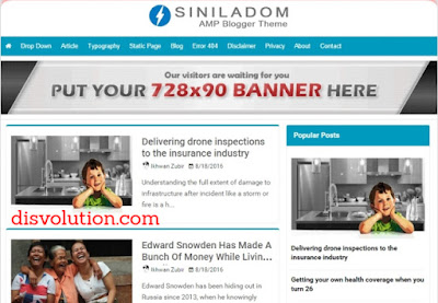 Template Terbaru 2017 AMP Siniladom Download Gratis
