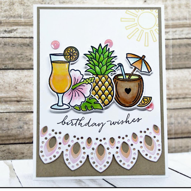 Sunny Studio Stamps: Tropical Paradise Customer Card Share by Susie Moore