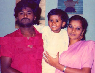 Jaggesh with wife and son