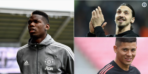 Ibra, Pogba, and Rojo are ready to Play With United
