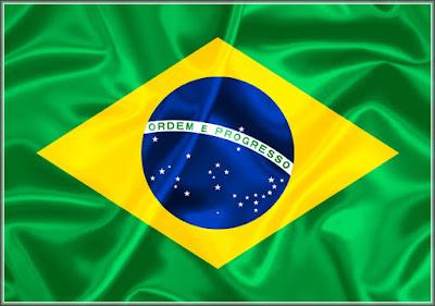 Foto da Bandeira Nacional Republicana do Brasil que vigora desde 19 de novembro de 1889 até os dias de hoje