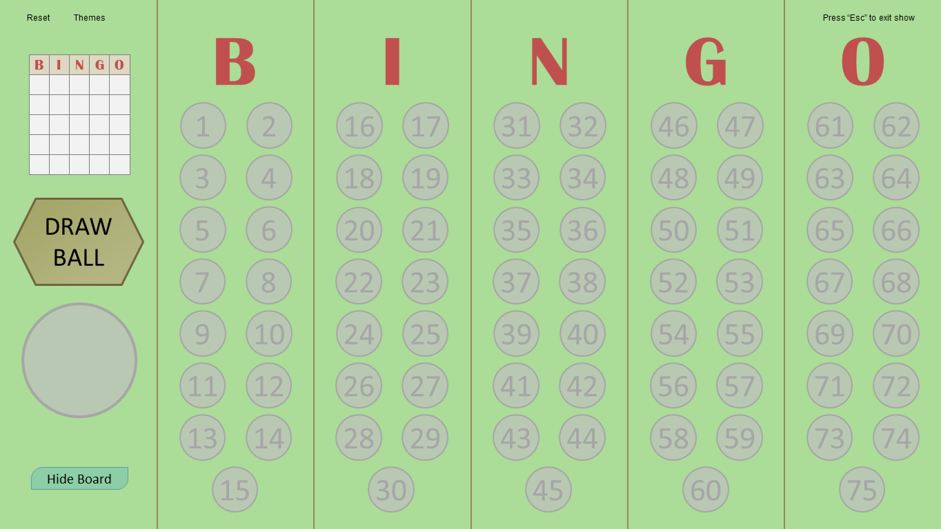 master - Bingo Master Board & Bingo Master Board PLUS BingoGreenBetter