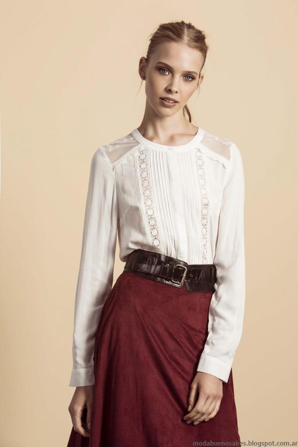 Blusas de moda invierno 2016 ropa de mujer. Estancias Chiripá. Moda 2016.