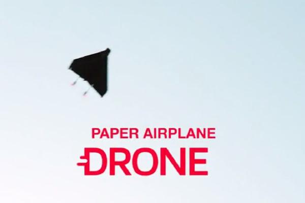 無人遙控紙飛機,數位時代翻攝自 PowerUP FPV介紹影片。