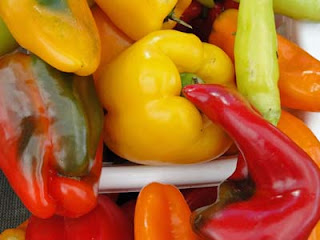Colourful peppers