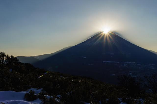 ダイヤモンド富士~山梨百名山・竜ヶ岳