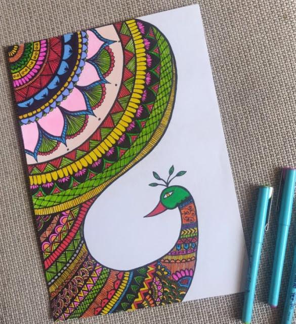 Peacock Mandala Drawing Art Painting Sketch