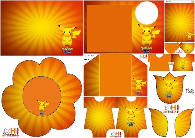 Pikachu: Invitaciones para Imprimir Gratis.