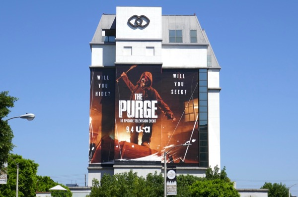 Purge giant TV series billboard