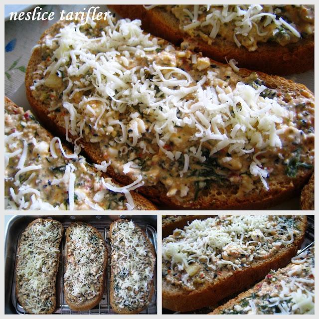 ızgara da pişen bol sağlıklı ekmek dilimleri