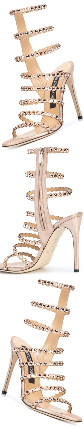 SERGIO ROSSI Strappy Stiletto Sandals