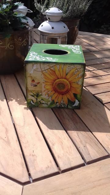 Inspiracje ze świata przyrody – optymistyczny chustecznik ze słonecznikami :)