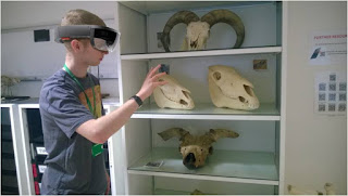 Callum in the RVC's Anatomy Museum