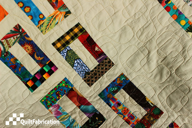 more geometric quilting on the Slots quilt by QuiltFabrication