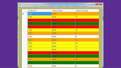 c# datagridview row back color