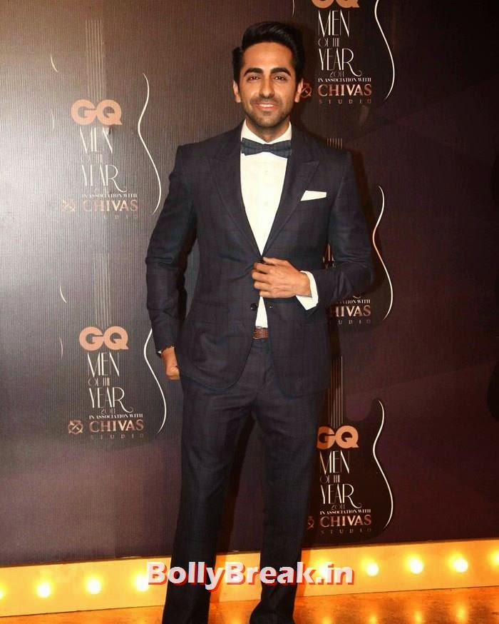 Ayushmann Khurrana, Red Carpet Pics of GQ Men Of The Year Awards 2014