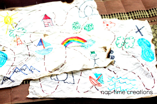 Easy Treasure map for kids