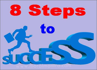 8 steps to success image in hindi