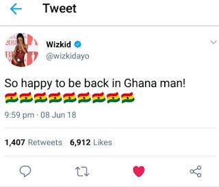 #Ghanameetsnaija : Am Happy To Be In Ghana Once Again - Wizkid