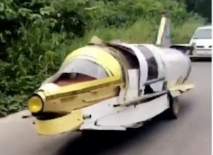 Check In To See The 'Made in Nigeria Spaceship' That was Spotted Cruising on The Road Of  Sagamu-Ore(Picture & Video)
