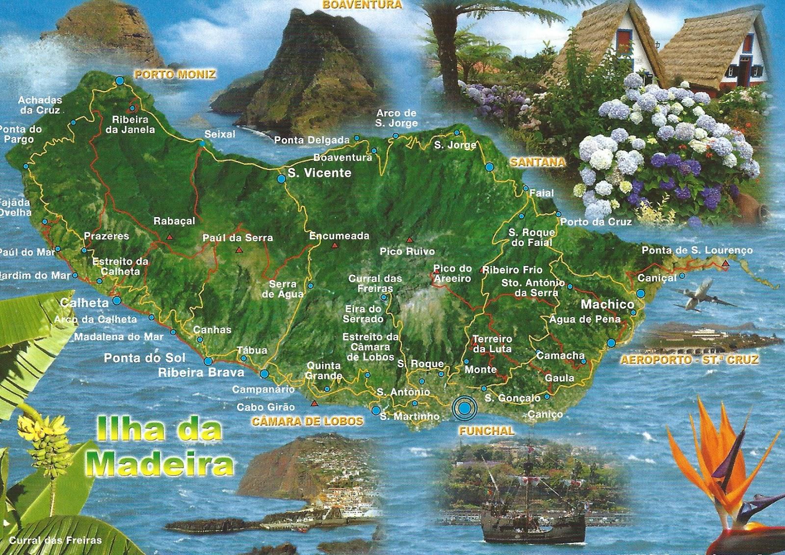 MY POSTCARDPAGE MADEIRA Map - Portugal vegetation map