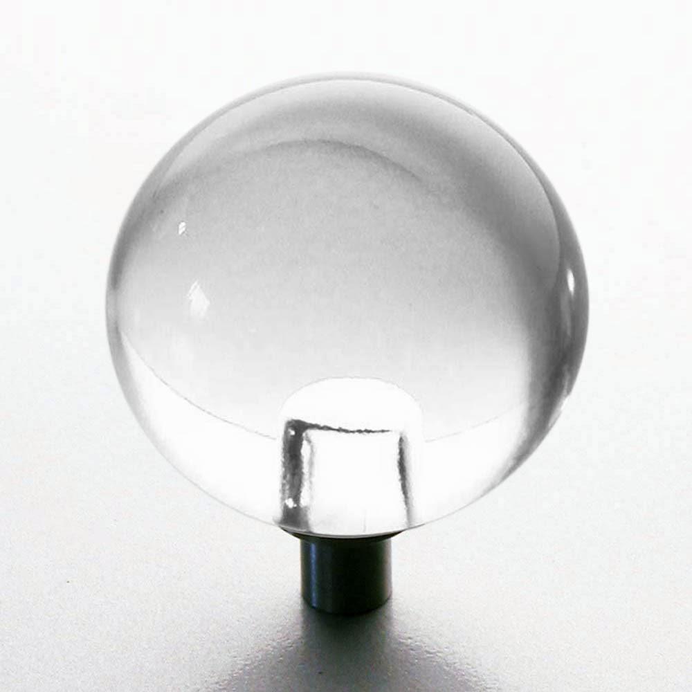 m belkn pfe aus glas und kristall m belnopf glaskugel auf edelstahl sockel 30mm. Black Bedroom Furniture Sets. Home Design Ideas