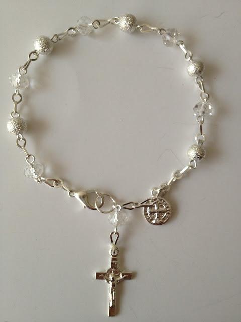 Bolos y recuerdos para bautizo y primera comunion rosarios - Como limpiar un rosario de plata ...