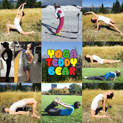 yogateddybear, yogateddybeartv, yoga teddy bear, yoga, invite love, heart opening yoga poses, camel pose, wild thing, bridge pose, bow pose, everyday yoga