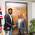 Comedian Basketmouth meets the Mayor of Brent, London ....photo