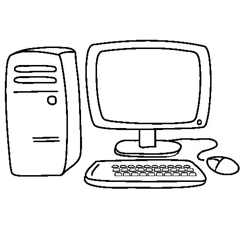 Dibujos De Partes De La Computadora Para Niños Para Colorear