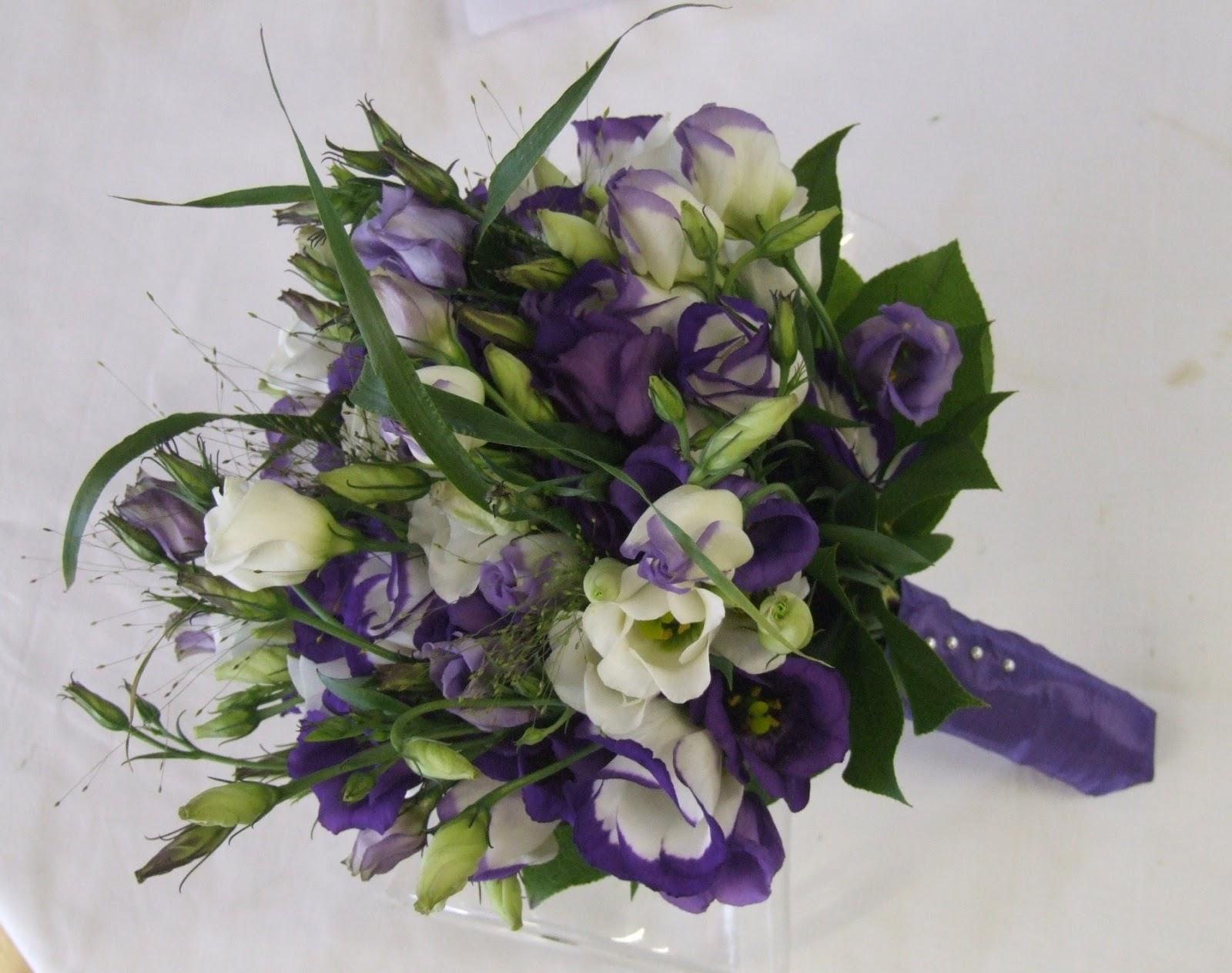 Sandras Flower Studio Purple Wedding Bouquets