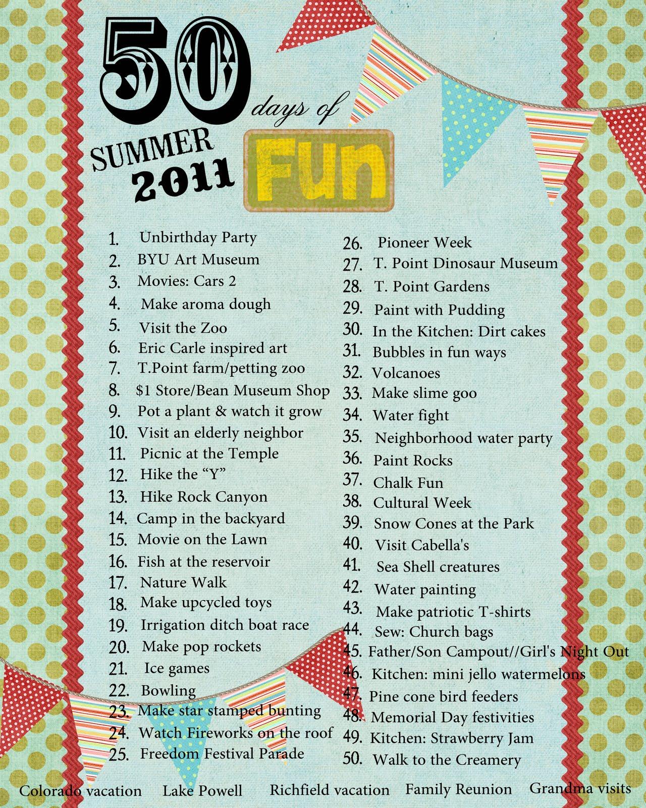 Bonne Nouvelle: Summer Fun Ideas 2011