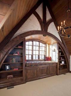 padlásszoba olvasósarokkal