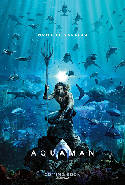 "Aquaman ""Home Is Calling"" Theatrical One Sheet Teaser Movie Poster"