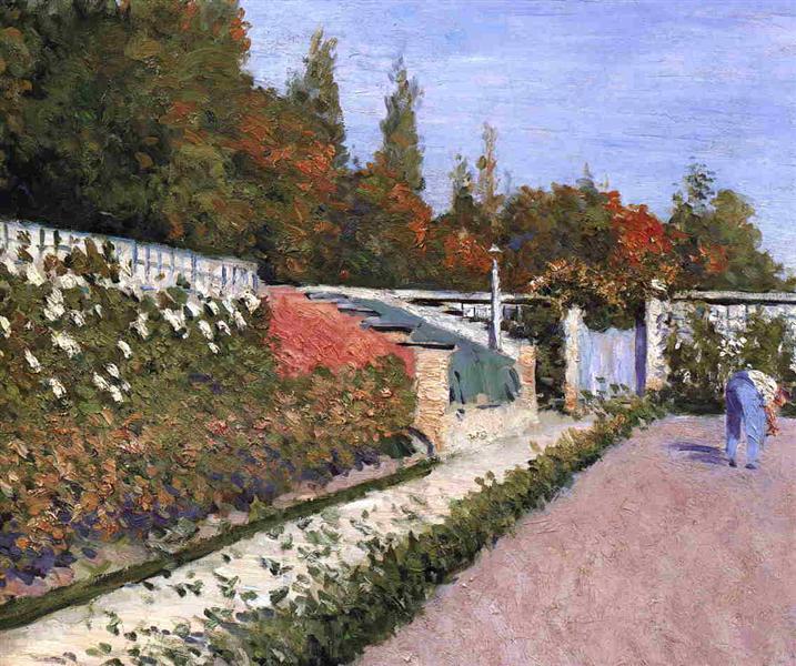 Gustave Caillebotte, Natur, Garten, Freundschaft, Dankbarkeit, pflanzen, rosen, hegen und pflegen, keinen schaden zufügen, menschen, gärtner, painting, malerei, bild, poetische Art, die liebe zur natur