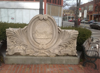 Architectural element from old courthouse