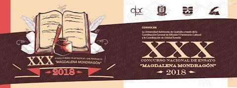 NOTICIAS Convocan al XXX Concurso Nacional de Ensayo Magdalena Mondragón