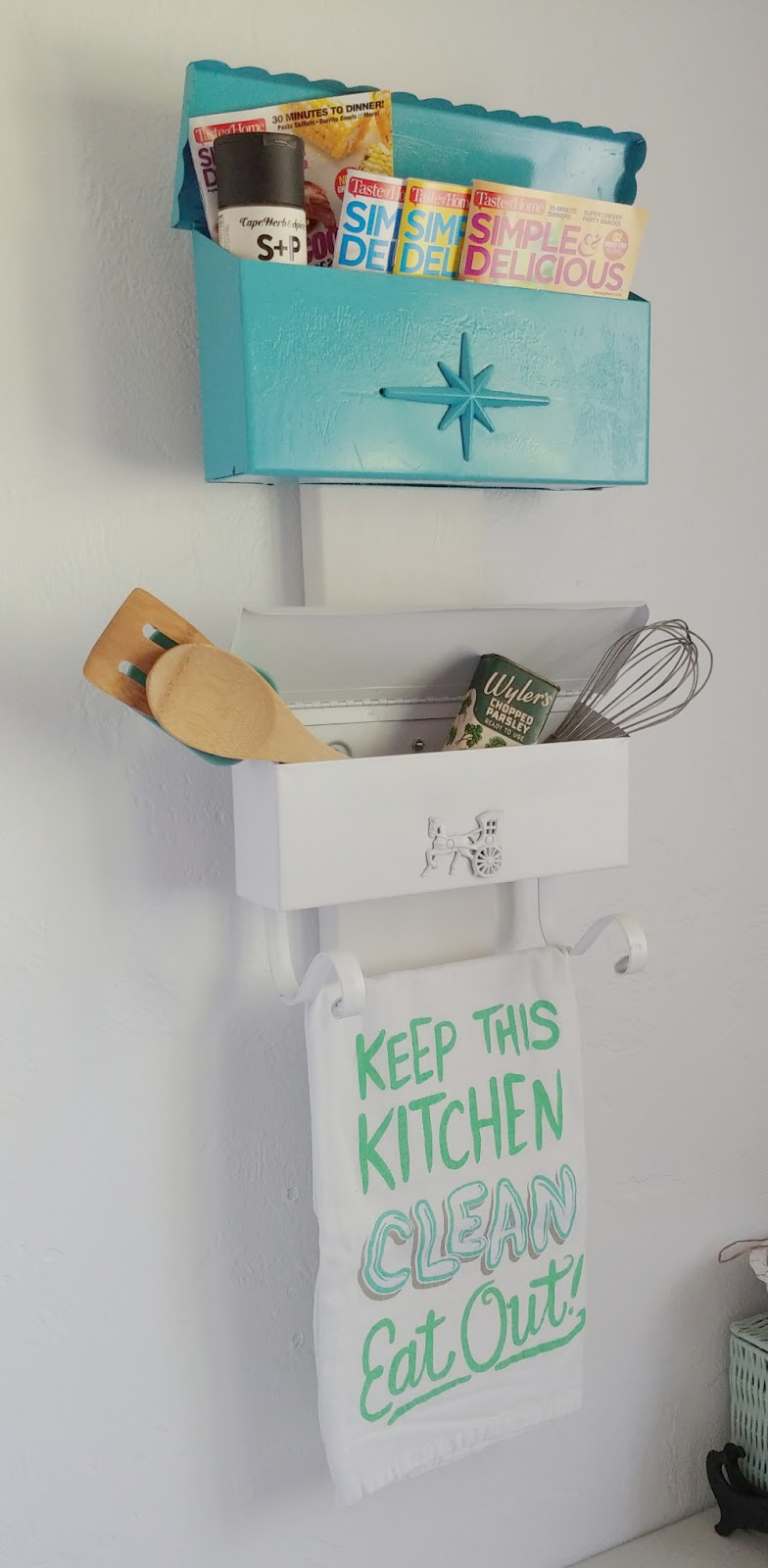 upcycled kitchen storage