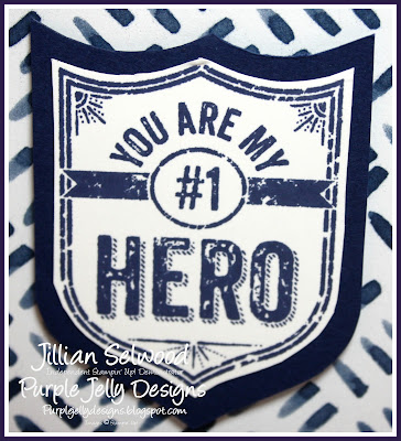 You're my #1 Hero, night of navy Floral Boutique DSP