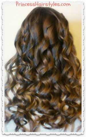 Gorgeous curling wand curls