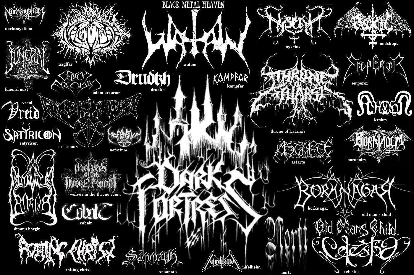 illegible black metal logo - photo #25