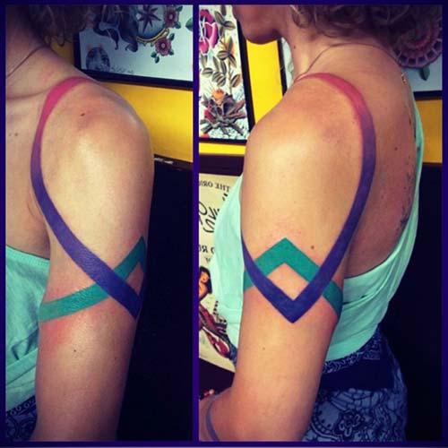 kadın omuz dövmeleri woman shoulder tattoos 3
