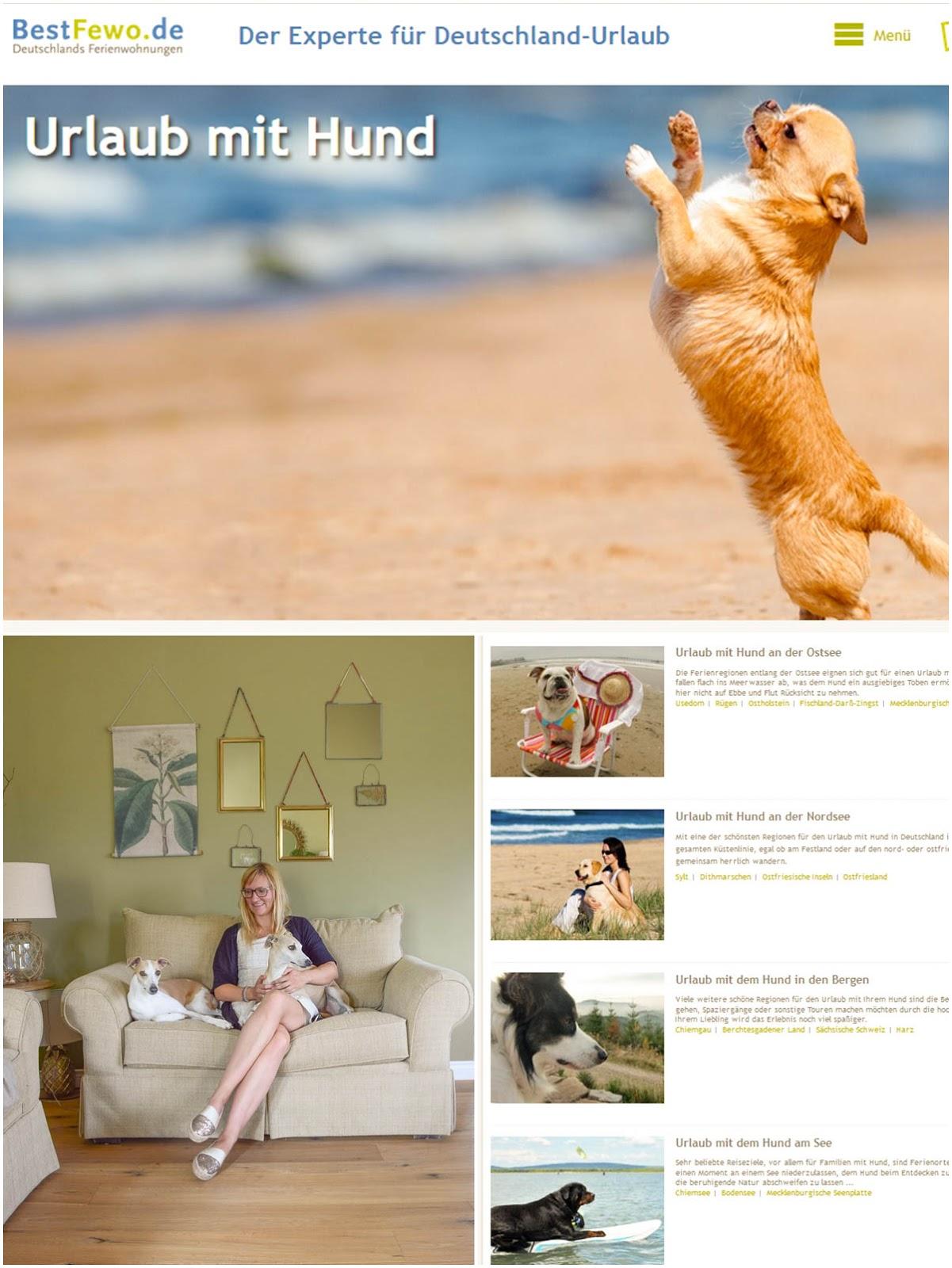 Reisen mit Hund in Ferienwohnung mit BestFewo: Last Minute Sommerurlaub mit Hund