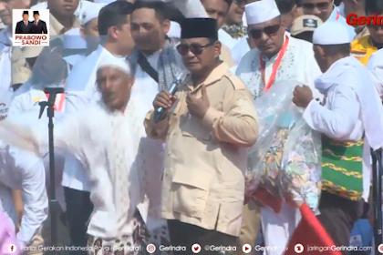 Prabowo: Kon Lon Nyang Bagi Peng, Tapi Rakyat Nyang Jok Peng Keu Kamoe