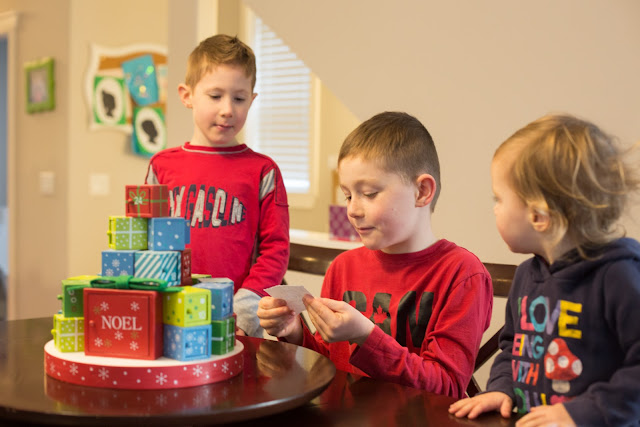 Kids excited to start advent activities