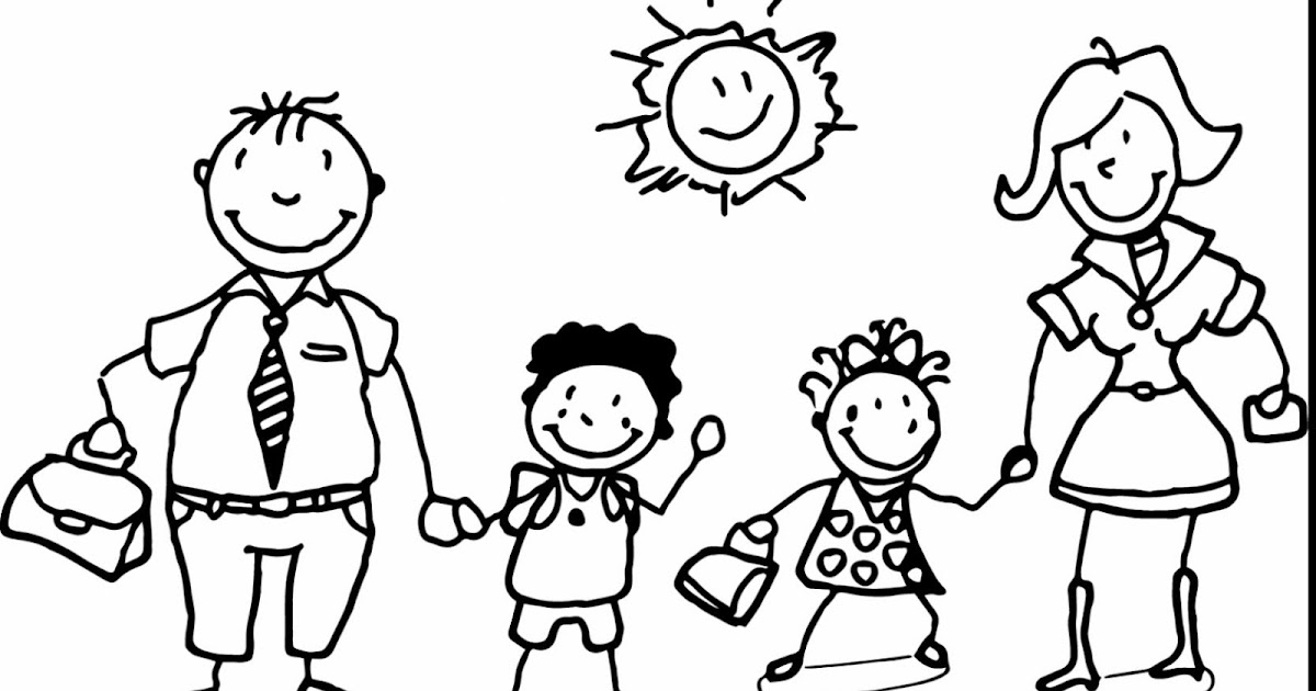 Simplicity image with family coloring pages printable