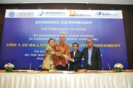 CEXIM Bank Menandatangani Loan Facility Agreement Pembangunan PLTU
